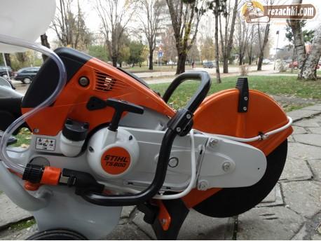 Моторен ъглошлайф / фугорез Stihl TS 800 на количка