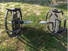 Метални колела к-т за мотофрези с ос 25 мм + уширители