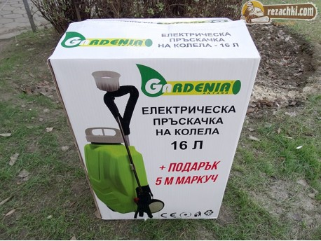 Акумулаторна пръскачка Gardenia на количка 16 л